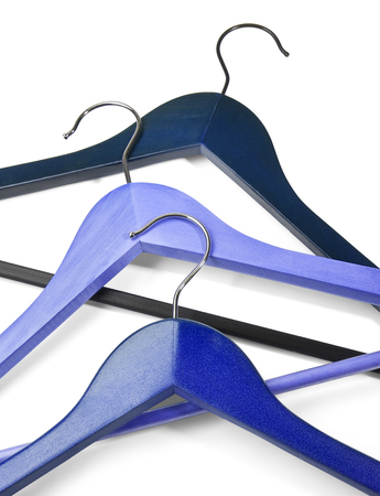 Hangers isolated on the white background Stock Photo