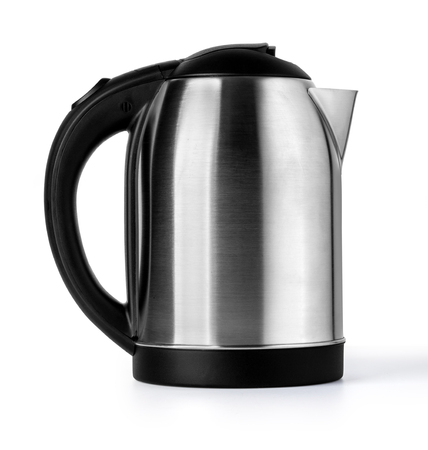 Nice design of modern kettle water boiler for your kitchen an image isolated on white with clipping path