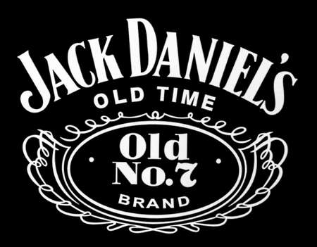 Chisinau, Moldova November 16, 2016: the logo of the brand Jack Daniels on computer screen Tennessee whiskey.Jack Daniels is a brand of sour mash Editorial