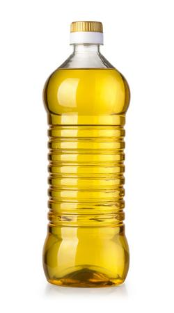 oil bottle isolated on white