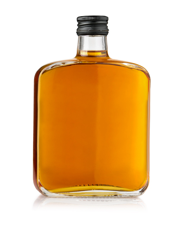 Bottle of whiskey isolated on a white background Stock Photo