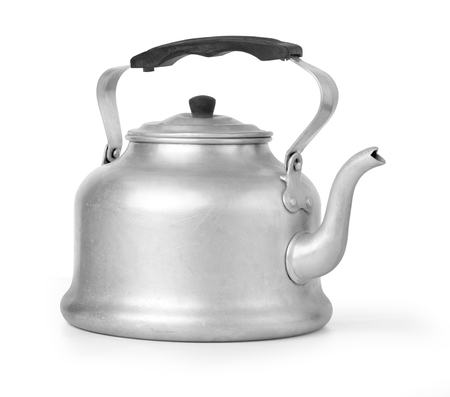 old vintage retro Kettle on white background