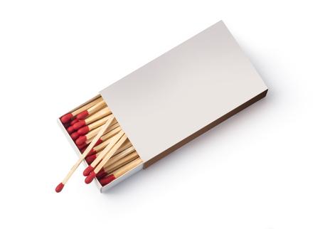 Box of matches, isolated on white background Banco de Imagens