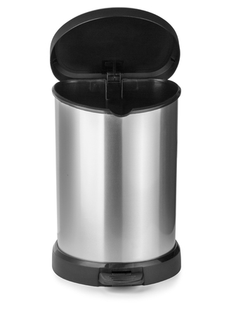 trash can isolated on white background with clipping path