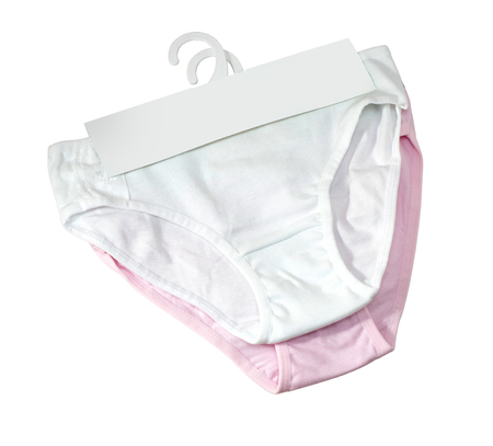 cotton panties isolated over white with clipping path Imagens