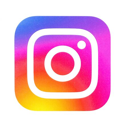 Chisinau, Moldova September 19, 2018: Instagram new logo  printed on white paper. Instagram is an online mobile photo-sharing, video-sharing service.