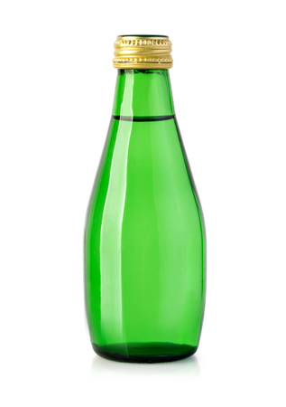 green water bottle isolated  with clipping path