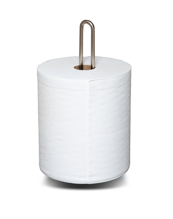 Paper towels isolated on white with clipping path