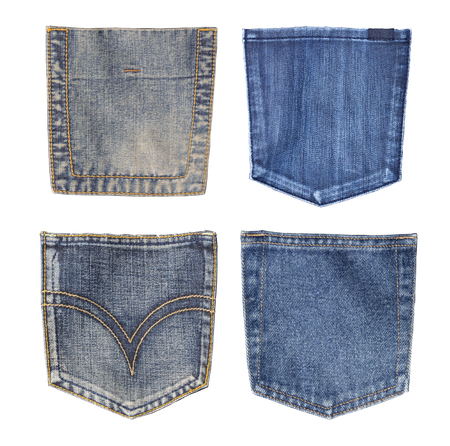 jeans pocket.close up ISOLATED ON WHITE