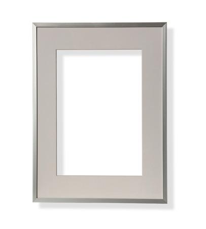 Vintage frame wooden metal isolated Standard-Bild