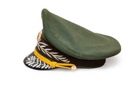 The Russian generals cap on a white background Foto de archivo