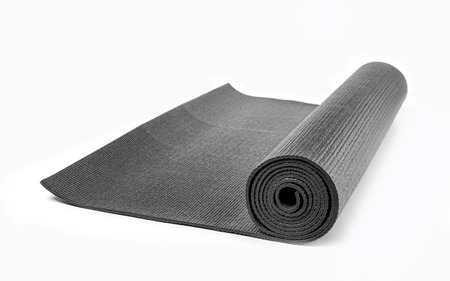 blackYoga Mat with White Background