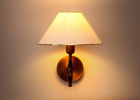 the warm wall sconce background