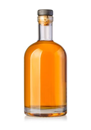 whiskey bottle isolated on white