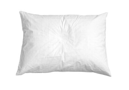 Blank soft pillow on white background isolated with clipping path