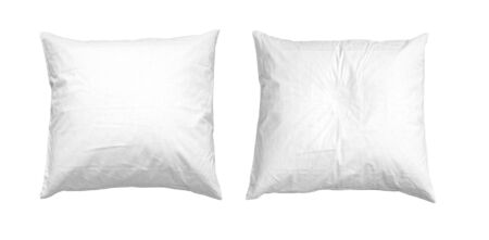 Blank soft pillow on white background isolated Фото со стока