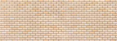 Panoramic light brick wall pattern texture background. Wide panorama of masonry