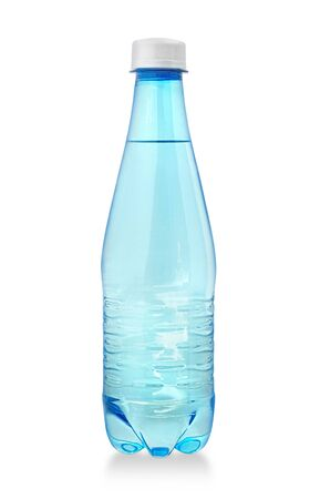 plastic water bottle isolated with clipping path