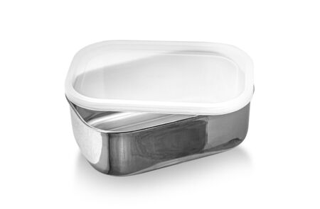 food container isolated on white background, with clipping path