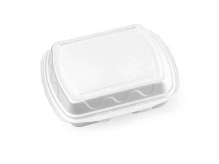 plastic box for food isolated on white with clipping path
