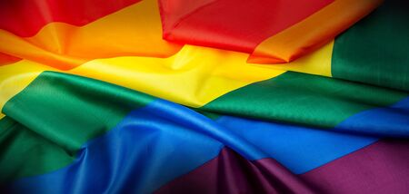 Rainbow flag as a symbol of LGBT