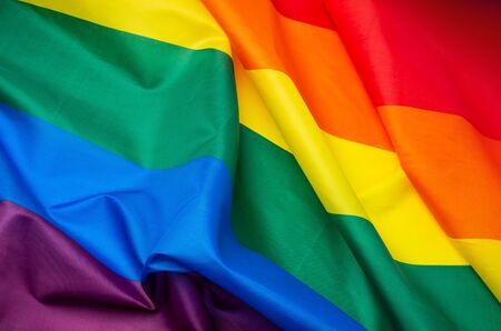 Rainbow flag as a symbol of LGBT background