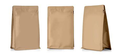 Emballage de sac de sachet de casse-croûte de nourriture d'aluminium blanc brun