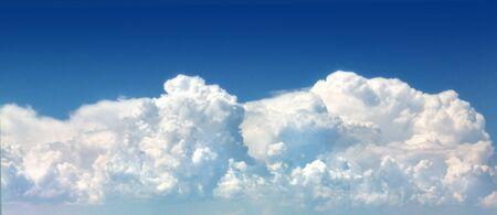 sky with big cloud single beautiful, blue sky big clouds white Stock Photo