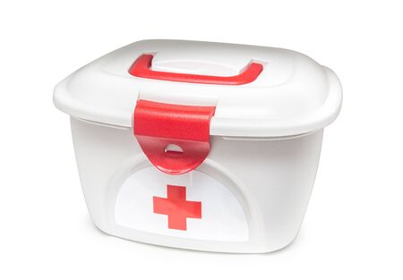 First aids. Medical Kit on white isolated background with clipping path