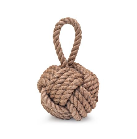 Rope knot isolated on a white background, as simbol,  with clipping path