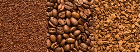 different types of coffee can be used as a background Zdjęcie Seryjne - 140206865