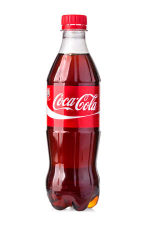 Chisinau, Moldova - May, 05, 2017: Photo of Coca-Cola plastic bottle Isolated on white Background With clipping path