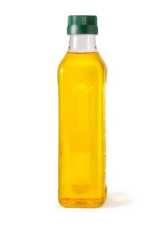 oil plastic bottle isolated on white Foto de archivo