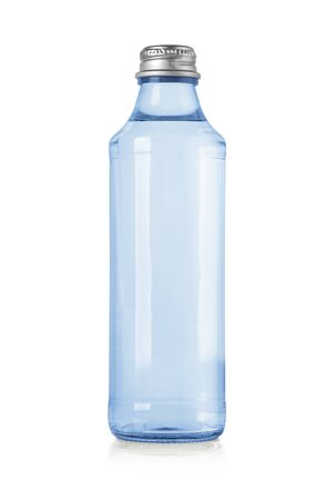 glass water bottles isolated on white Imagens