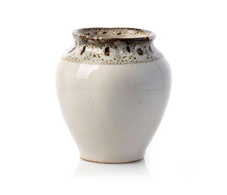 Ceramic jug. Isolated on white background.