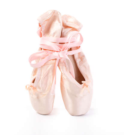 pointe shoes isolated on white background