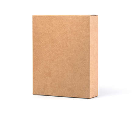 Close up of a Brown box on white background