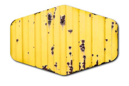 Grunge yellow metal sign background Foto de archivo