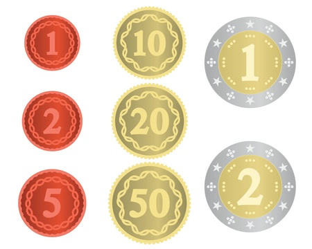 Imaginary collection of coins Stock Vector - 9603052
