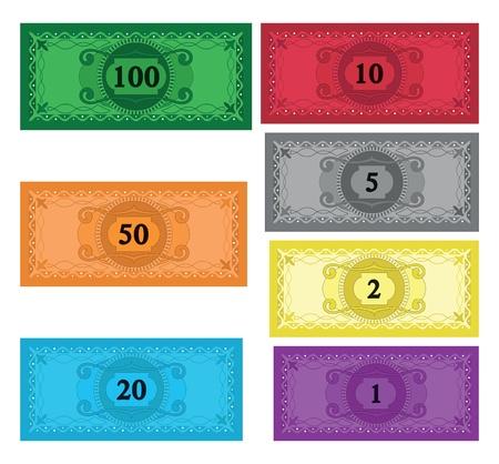 �conomie verte: Ensemble de bande dessin�e de l'argent