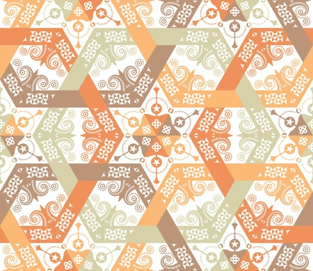 Overlapping intensive and seamless patterns Vector