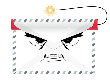 Dangerous terroristic envelope with dynamite Vector