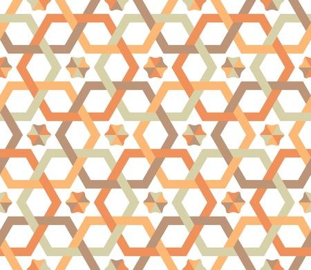 Overlapping hexagons - seamless pattern