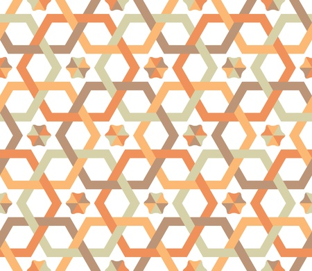 Overlapping hexagons - seamless pattern