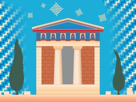 Greek ancient treasury  Vector