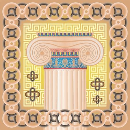 Ionic capital Illustration