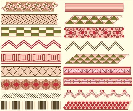 Prehistoric linear ornaments Stock Vector - 9718068
