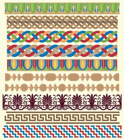 Greek architectural ornaments  Stock Illustratie