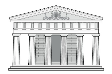 Greek Doric temple Stock Vector - 9718079
