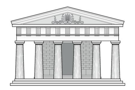 templo griego: Templo d�rico griego